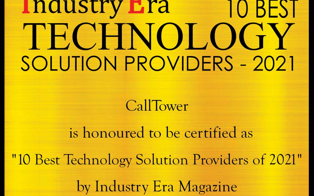 CallTower Recognized as Best Technology Solution Provider by Industry Era